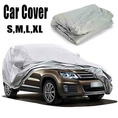 Silver Gray Out/Indoor Anti UV Waterproof SUV Auto Full Cover Size M/L/XL