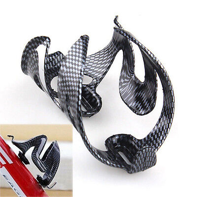 Cycling Bicycle Carbon Fiber Water Bottle Drinks Holder Cages Rack New ZV