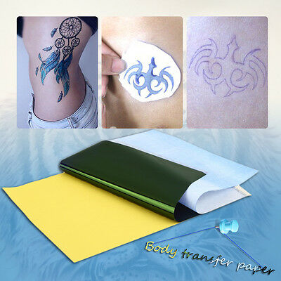 10Sheets Tattoo Transfer Carbon Paper Supply Tracing Copy Body Art Stencil A4 ZV