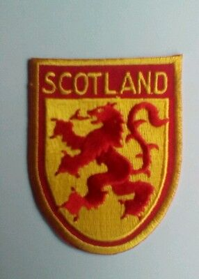 Lion Rampant Scotland Embroidered sew / iron on Patch Badge shield