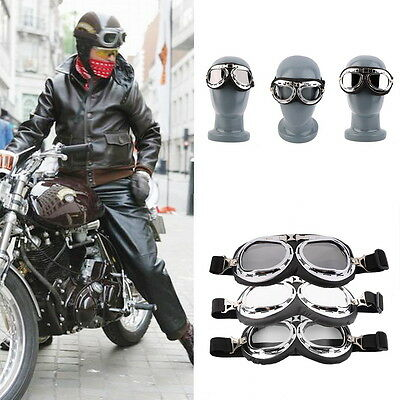 Hot Anti-UV Safety Motorcycle Scooter Pilot Goggles Helmet Glasses Motocross ZD