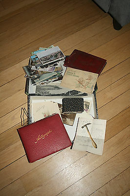 Autograph Album postcards  file full of family material german friend dagenham