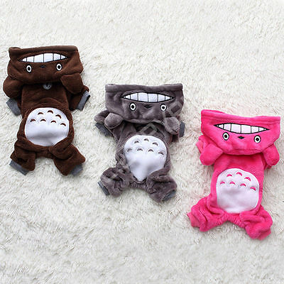 NEW Pet Clothes Dog Totoro Sweater Hoodie Cat Coat Puppy Apparel Soft Costume