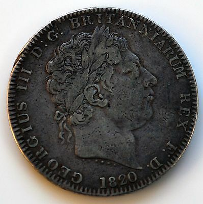 George III 1820 LX Crown.    (SN-A)