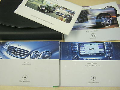 Mercedes Cl  Cl-Class Owners Handbook +Wallet 2002-2006 Inc Sat Nav