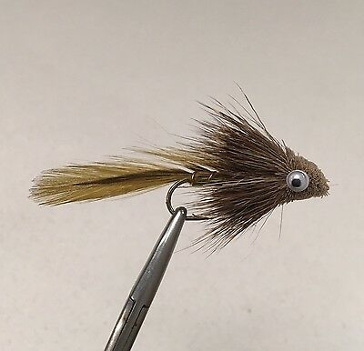3 x OLIVE MATUKA SCULPIN FLY FISHING STREAMER FLIES - MIXED SIZES 2, 4, 6