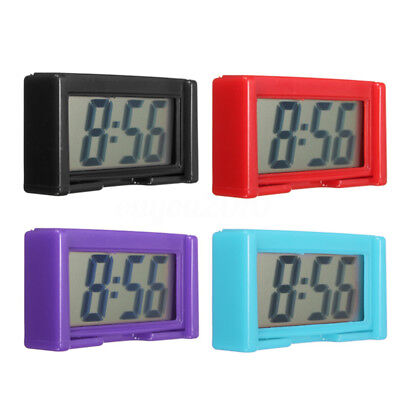 Auto Digital Car Dashboard LCD Clock Time Date Display Self-Adhesive Stick On