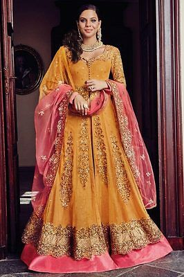 Indian Pakistani Designer Women's Bollywood Stitched Anarkali Party Wedding Sari