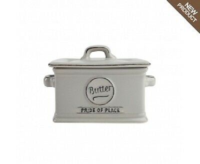 T & G Woodware -  Pride of Place - Butter Dish - Cool Grey