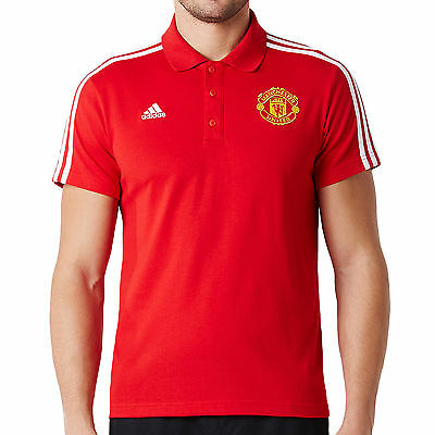 adidas Performance Mens Manchester United Football Club MUFC Polo Shirt Top