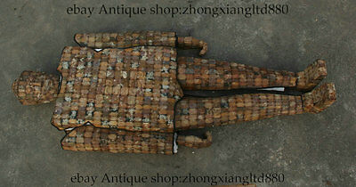 """60"""" Chinese Old Collected Jade Palace Human Dragon Clothes Full Armor Suit Set"""
