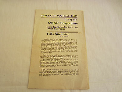 1945-46 LEAGUE NORTH STOKE CITY v BARNSLEY