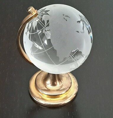 Glass Earth Globe Paperweight