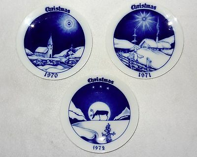 Bavaria Tirschenreuth Christmas 1970,1971 Plates Decorative Limited Edition Lot