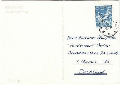 SWEDEN cover 1964 - Scout - Scouting - postcard to Germany