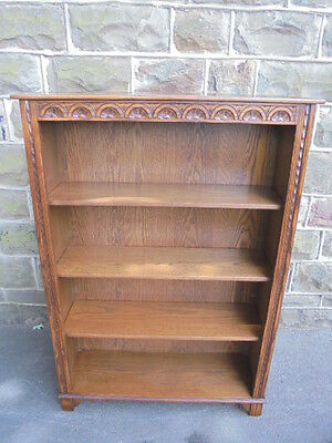Old Charm Wood Bros Oak Open Bookcase