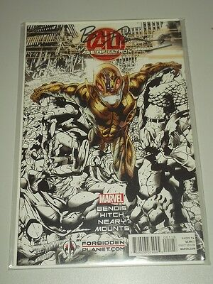 Age Of Ultron #1 Forbidden Planet Variant Signed Hitch Marvel Comics Nm (9.4)