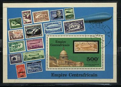 Central Africa # C187 Souv. Sheet - 75th Anniversary of Zepprlin