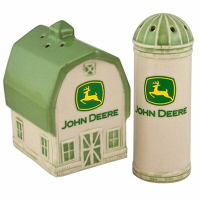 John Deere Logo Barn and Silo Salt / Pepper Set Official Licensed