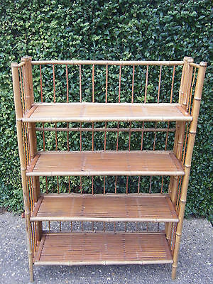 Vintage/Antique Edwardian Folding Bamboo Campaign Style Book Shelves