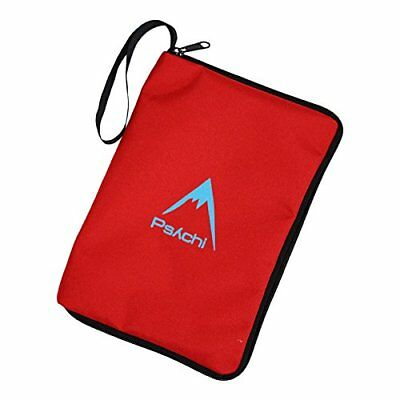 Psychi Climbing Outdoor Hill Walking Guide Book Manual Map Zip Cover Case Red