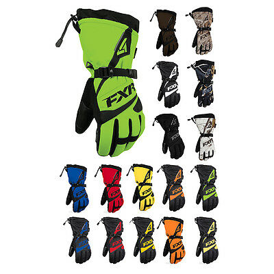 FXR Mens Snowmobile Insulated Waterproof Fuel Gloves Size XS-3XL