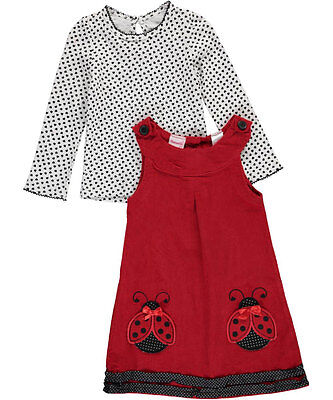 """Nannette Little Girls' Toddler """"Lovely Ladybug"""" 2-Piece Outfit (Sizes 2T - 4T)"""