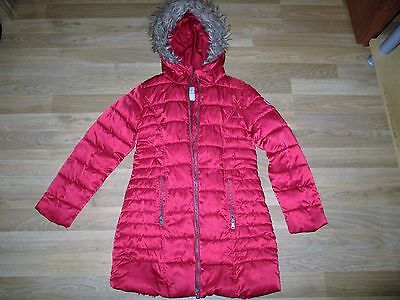 next girls red hooded coat age 9 years