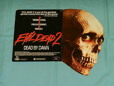 vintage EVIL DEAD 2: DEAD BY DAWN (incomplete) hanging video store display