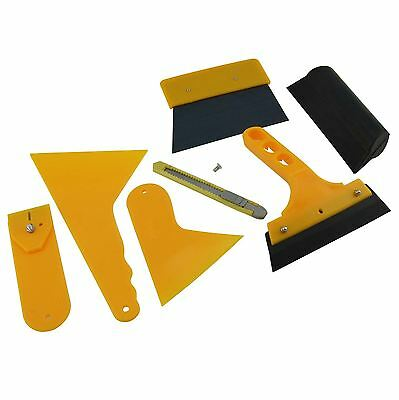 New 7in1 Car Window Scraper Wrapping Films Application Squeegee Tools Set Kit