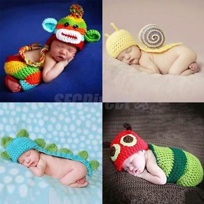Cute Animal Knit Photography Photo Props Baby Costumes for Newborn Baby