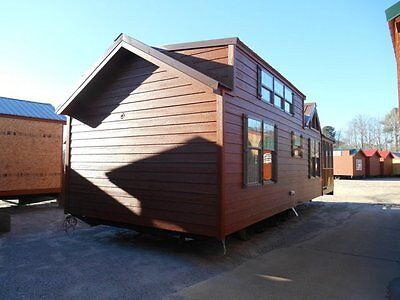 2018 NATIONAL CLASSIC 12x21 RUSTIC CABIN PARK MODEL TINY MOBILE HOME ALL FLORIDA