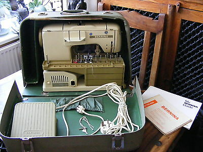 Vintage Retro Bernina 730 Record Sewing Machine with Case & Extras
