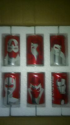 RARE Marvel Mini Coca Cola Coke Cans 6-Pack Complete Set - Limited Edition Promo