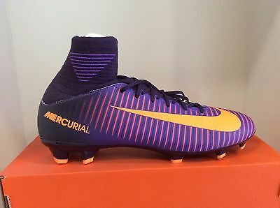 Nike Jr Mercurial Superfly V FG Firm Ground Soccer Cleats Purple Dinasty