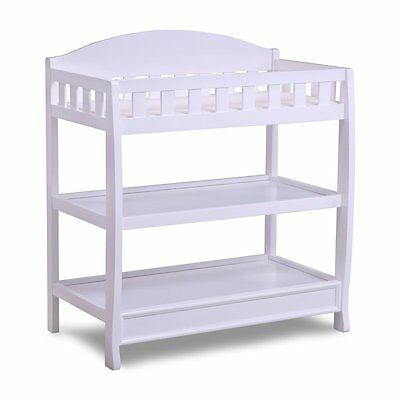 Delta Children 7530-100 Infant Changing Table with Pad, White BOX DAMAGE