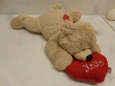 """Be My Valentine Brown Lying Bear with XOXO Heart, 20"""" PT60643KM-1"""