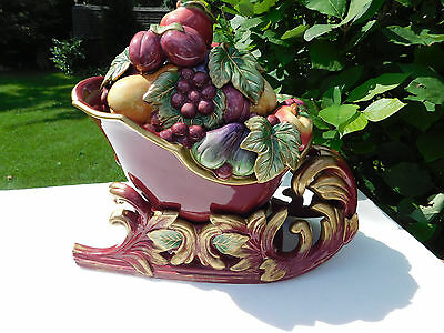 "Fitz & Floyd ""Renaissance"" Holiday Fruit Thanksgiving Sleigh Soup Tureen"