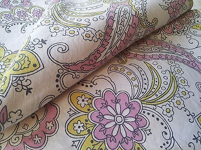 Vintage Retro Sheet PAISLEY FLORAL Single Bed Fabric