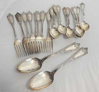 Vintage Sterling Silver Silverware Set of 20 - M.S. Smith 1866 / Whiting - Ivy