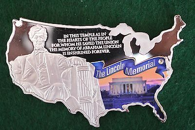 2015 Proof - Abraham Lincoln Memorial Commemorative Coin- New Shape-