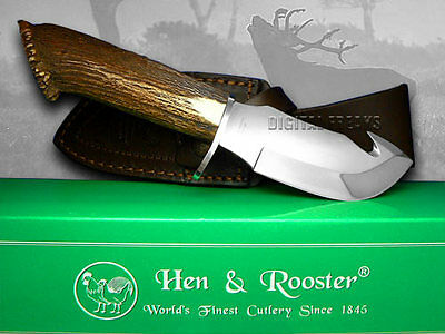 HEN & ROOSTER AND Deer Stag Guthook Hunting Knives