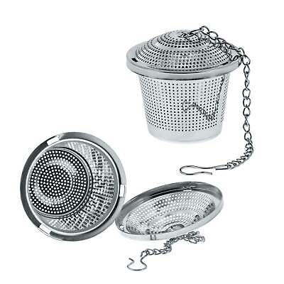 U.S. Kitchen Supply 2 Stainless Steel Tea Ball Strainer Infusers Perforated Mesh