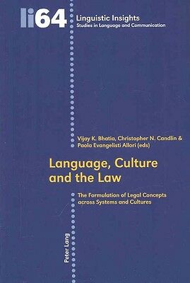 Language, Culture and the Law by Paperback Book (English)
