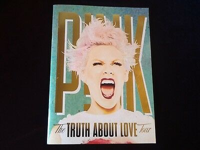 P!NK  Alecia Moore Tour Program Book THE TRUTH ABOUT LOVE New