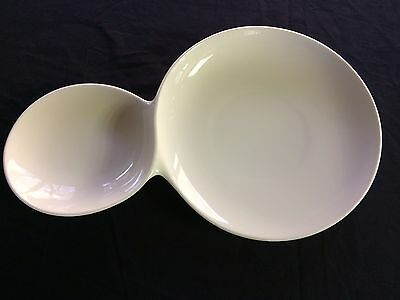 "Villeroy & Boch ""Flow"" Two in One Platter, double plate, fine China from Germany"