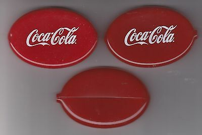 Three Coca-Cola Squeeze Coin Purses Mint   Free Shipping