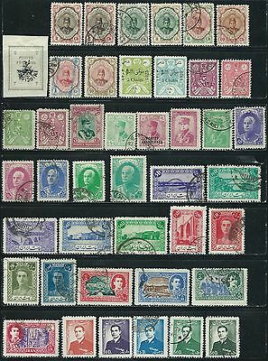 Middle East -  43 old stamps mixed - Years 1906  to 1953