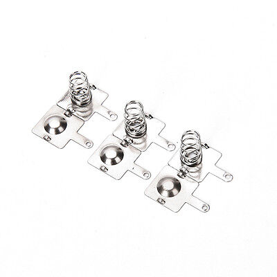 20Pcs Silver Tone Metal Spring Battery Contact Plate Set For AA AAA BatteriesMDA