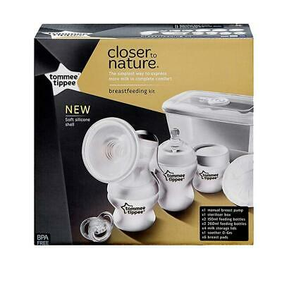 Tommee Tippee Closer To Nature Manual Breast Pump Kit Free Shipping!
